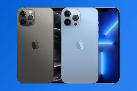 אייפון 13 פרו (מימין) מול אייפון 12 פרו (משמאל) (תמונות: אפל)