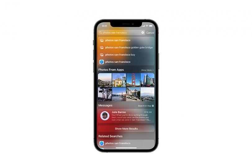 Spotlight ב-iOS 15 (תמונה: Apple)