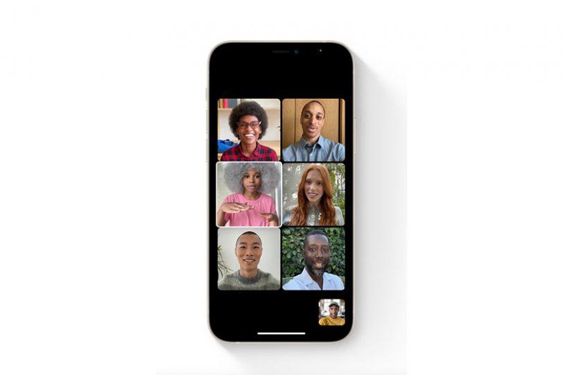 Grid View ב-FaceTime (תמונה: Apple)