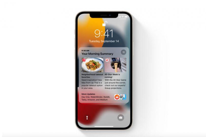 סיכום התראות ב-iOS 15 (תמונה: Apple)