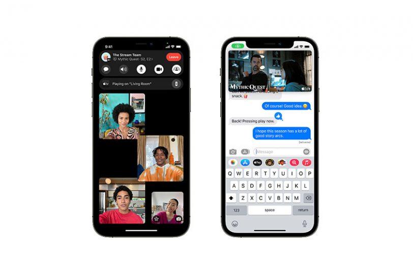 SharePlay ב-iOS 15 (תמונה: Apple)