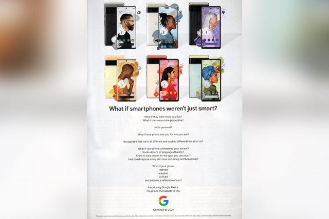 Google Pixel 6 Promotion (תמונה: New Yorker Magazine)