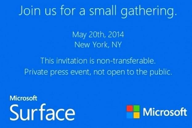מיקרוסופט מתכננת אירוע ל-20 במאי: האם תציג את ה-Surface Mini?